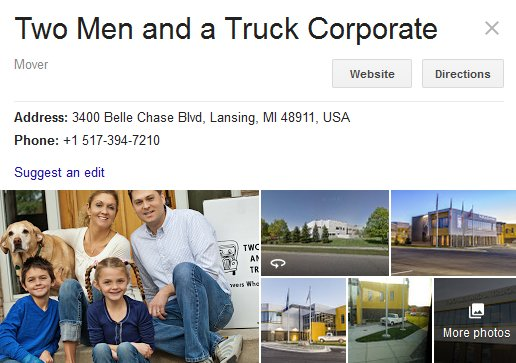 Two Men and a Truck - Location