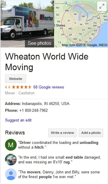 Wheaton World Wide Moving – Location