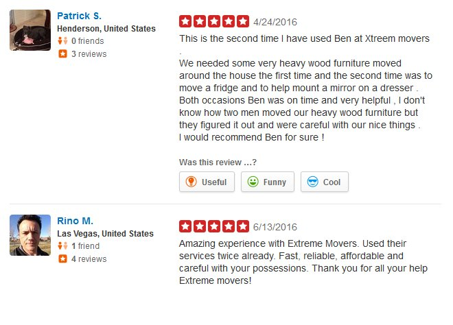 Xtreme Movers – Moving reviews