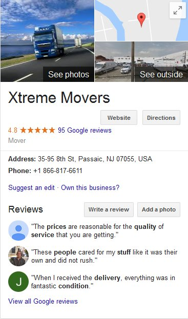 Xtreme Movers-Location
