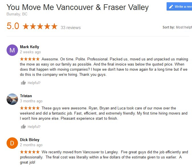 You Move Me – Moving reviews