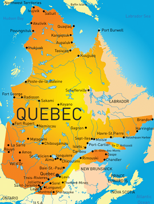 Moving partners of our network cover all areas in Quebec.