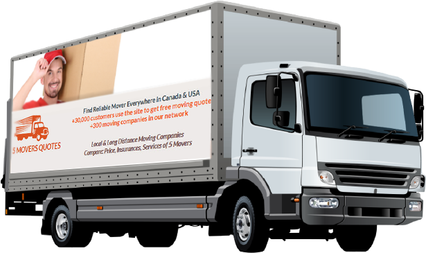 5 Movers Quotes is not part of the moving contract but carefully selects moving companies within its network.