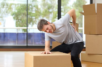 It is easy to get injured while moving if you do too much.