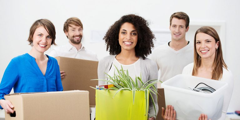 Communicate with your employees and prepare well for a commercial or office move.